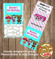 Personalised L.O.L. SURPRISE LOL Tic Tac Favour Gloss Sticker 14 Labels per page