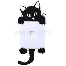 Lichtschalter Steckdosen Schwarz Katze Aufkleber Sticker Tattoo Wandtattoo Dekor