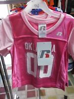 NWT 2015 LICENSED University of Oklahoma Sooners Pink Jersey 2T 3T 4T 5T 6T 4037