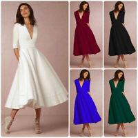 Elegant Evening A-line Dress Wedding Dresses Vintage Cocktail Swing Party Women