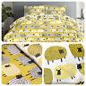 Fusion DOTTY SHEEP Ochre Yellow Easy Care Duvet Cover Set