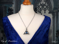 Ladies Girls Unisex Pendant Necklace Pentagram Blue Eye of God Symbol By Alchemy