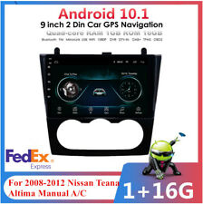 """9"""" Android 10.1 Car Stereo FM Radio GPS For 08-12 Nissan Teana Altima Manual A/C"""