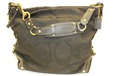 Coach Carly L0773-10620 Black Signature Jacquard And Leather Hobo Shoulder Bag