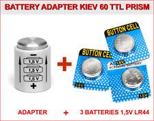 BATTERIE ADAPTATEUR pour KIEV 60 or 6C-6S TTL PRISM + 3 BOUTON 1,5V LR44