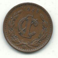 A HIGHER GRADE VINTAGE 1935 M MEXICAN 1 CENTAVO COIN-AUG002