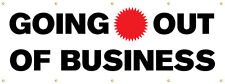 Going Out Of Business Banner with Grommets, 3'Hx8'W, Full Color