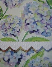 Carol Wilson Purse Pads Embossed Note Pad Hydrangea Floral Magnetic 90 Sheets