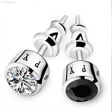 AED6 Pair Fashion Individuality Men'S Diamond Earrings Ear Stud Jewelry Gifts