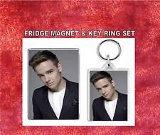 liam payne Key Ring & Fridge Magnet Set