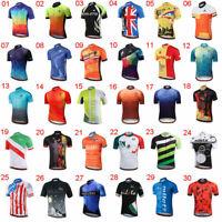 Miloto Men's Reflective Cycling Jersey Top Short Sleeve Cycle Bike Shirt S-5XL