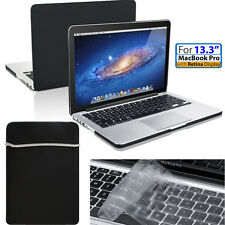 "[Macbook Pro w/Retina 13.3/13""] Protection Black Matte Case&Sleeve Bag&Keyboard"