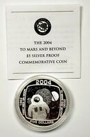 2004 $5.00 Cook Islands Space First Man On Moon NASA .999 Silver Round 1oz