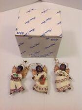 RARE HTF Princess House Angel Ornaments Set of 3 #669 African American