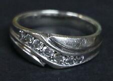 MEN'S 14K WHITE GOLD RING .50 ct DIAMOND WEDDING BAND 8.5 gm