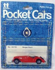 Tomica Pocket Cars #140-F26 Morgan Plus 8 Roadster Red MOC 1/57 Scale