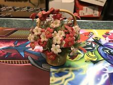 Vintage Enesco 1982 Music Box Flowers