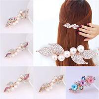 Women Girls Pearl Hair Clip Claw Hairpin Barrette Stick Hair Accessories