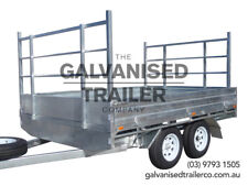 10x7 Flat Top Tandem Trailer Heavy Duty Galvanised With 3000kg GVM