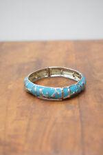 Bracelet Turquoise Blue Enamel Stretch Bracelets