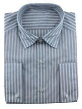 Camicie classiche da uomo polsini con bottone grigi lavabile in lavatrice