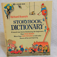 RICHARD SCARRY'S STORYBOOK DICTIONARY A GIANT GOLDEN BOOK by Richard Scarry