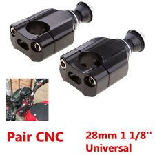 28mm 1/8''Black Handle Bar Clamp Adaptor Riser Motorcycle HandleBar Mount Riser