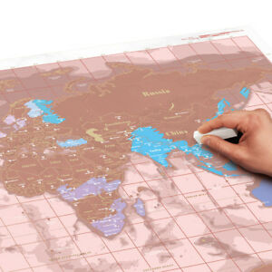 Scratch Map Rose Gold - Poster Paper Track Your Travels New Genuine Luckies