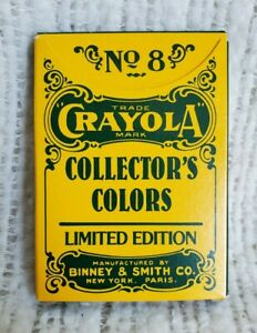 Binney & Smith No. 8 Crayola Collector's Colors Crayons Limited Edition New 1991