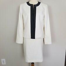 Kasper Separates Women's White Black Skirt Suit Size 10