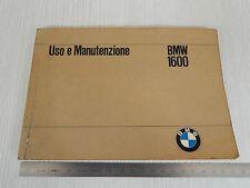 MANUALE USO MANUTENZIONE ORIGINALE 1967 BMW 1600 SERIE 02