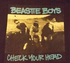 NEW  XL BLACK BEASTIE BOYS CHECK YOUR  HEAD CREW NECK 100% COTTON  T SHIRT