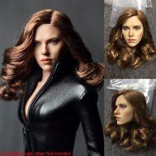 Custom 1/6 Scale Scarlett Johansson Head Sculpt For Hot Toys Female Figure Body