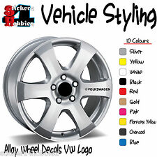 Volkswagen Alloy Wheel Sticker Decal x6