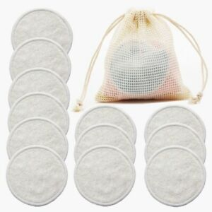 Reusable Fiber Makeup Remover Pads  Pack  Washable Round Cleansing Facial Cotton