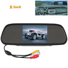 "5"" LCD TFT Color Screen Car Reverse Rear View Backup Camera DVD Mirror Monitor"