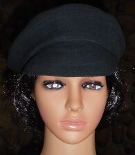 Made of Me Black Cotton Crocheted Cap Size 0/S 100% Cotton Unisex