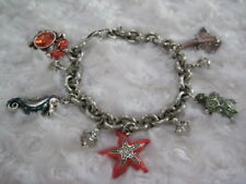 "Brighton ""Ocean Marvels"" Silver-Plated Enamel/Crystal Accented Charm Bracelet"