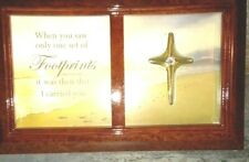 """Bradford Exchange """"Footprints in the Sand"""" Music Box ,New,With Certification, Ag"""
