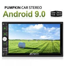 "PUMPKIN 7"" Android 9.0 8 Core Double Din Car Radio GPS Navi 4G+32GB Wifi DAB 4K"