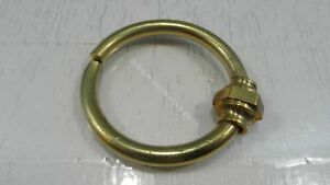 ANTIQUE FURNITURE NOSE RING BRASS FOR LIONS HEADS CABINETS