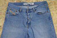 Men's DIESEL INDUSTRY Denim Division Light Blue Bootcut Jeans W34 L30