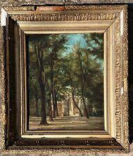 Belle  peinture 19eme chapelle près de Nimes ,Provence de Jean Baptiste Lavastre