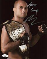 B.J. Penn Hand Signed 8x10 Photo UFC Fighter JSA COA Autograph BJ Prodigy Hawaii
