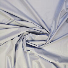 Sale quality waterproof silk fabric pale blue color. Made in Italy Price for 1 m