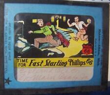Phillips 66 Advert - Battery - Magic Lantern Slide ( Glass ) 4 x 3.25 inches