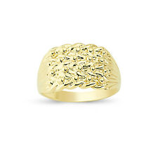 9CT GOLD SOLID KEEPER 4 ROW WIDE SHOT KNOT RING BAND GIFT BOX
