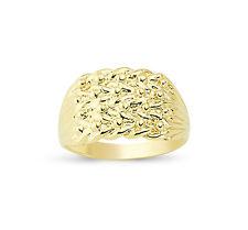 9CT oro sólido Keeper 4 filas de ancho tiro Nudo Anillo Banda Caja De Regalo