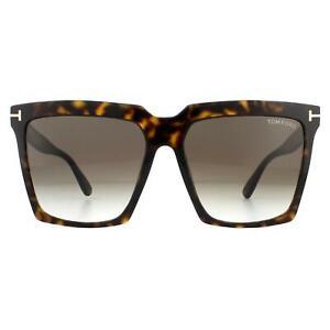 Tom Ford Sunglasses Sabrina 02 FT0764 52K Dark Havana Roviex Brown Gradient