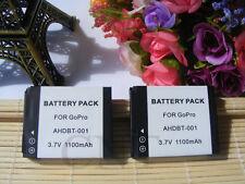 TWO Battery for GoPro AHDBT-001 Hero 2 HD2-14 ABPAK-0014 AHDBT-002 HD Hero 2
